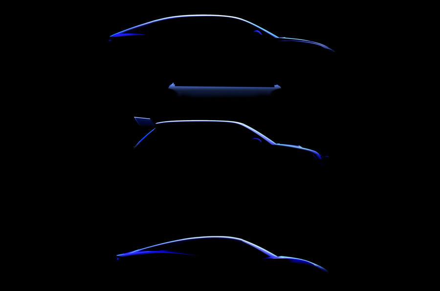 Trio de elétricos da Alpine
