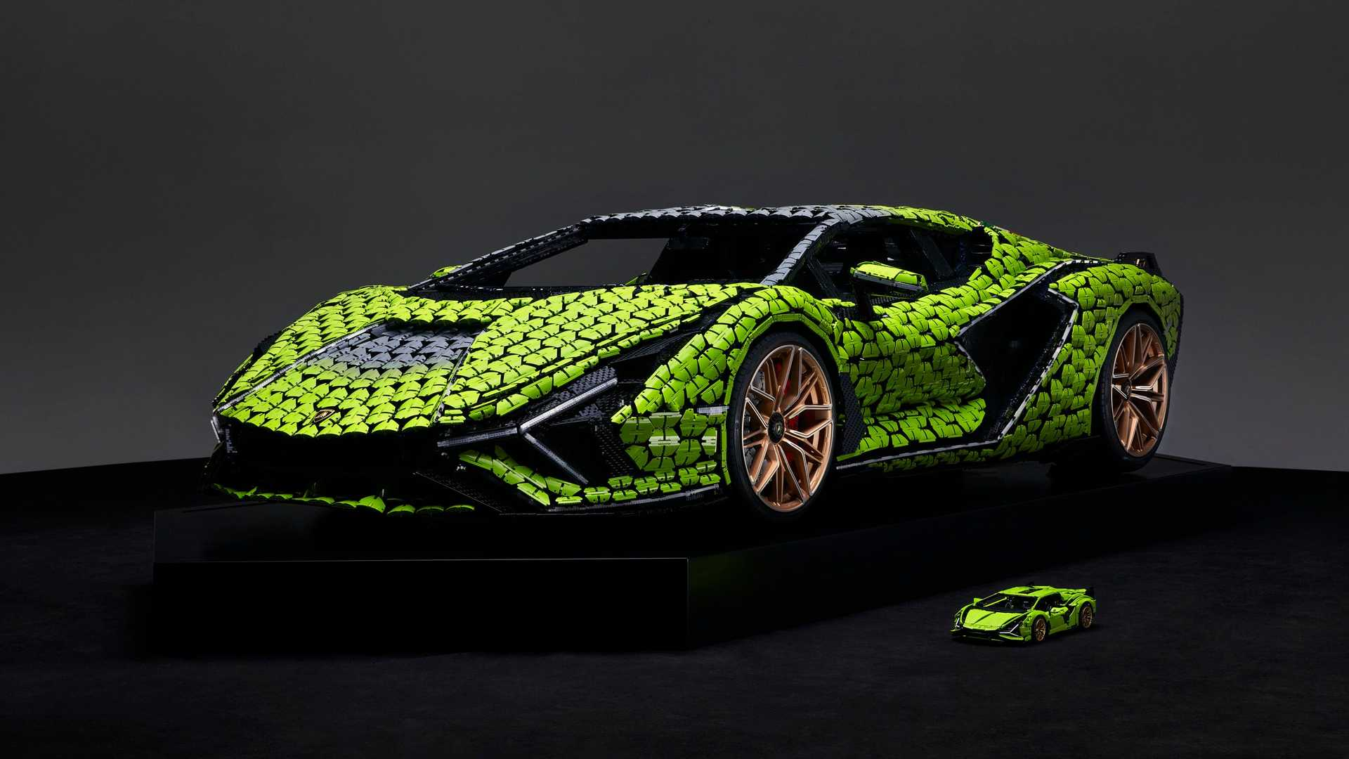 Lamborghini Sian FKP 37 fullsize Lego replica
