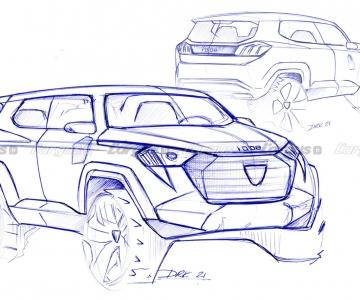 Sketch do Peugeot P44