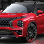 Render do novo Mitsubishi Outlander PHEV Evolution