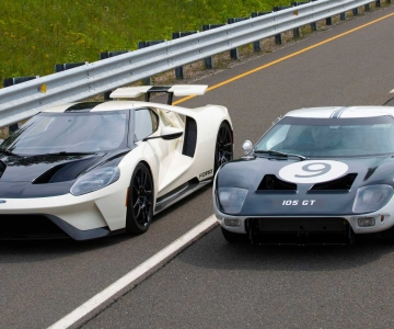 Ford GT Heritage Edition e Ford GT protótipo 1964