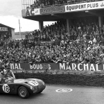 Duncan Hamilton e Tony Rolt após terem ganho as 24 Horas de Le Mans