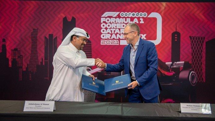 Assinatura do acordo para o GP do Qatar